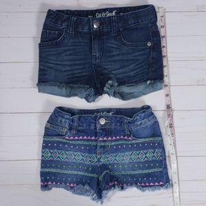 Cat & Jack Bottoms - Cat & Jack Girls Denim Shorts Size XS 4 / 5